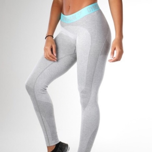Gymshark Gray/Teal Flex Leggings, HEAD Top and Bra